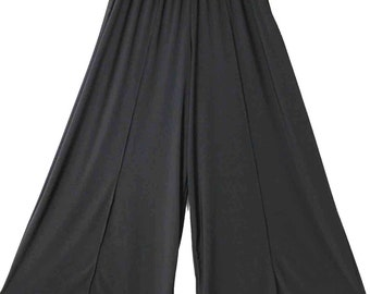 Versatile Plus Size lagenlook Palazzo Pants in Black color in  Size  L to 4XL.