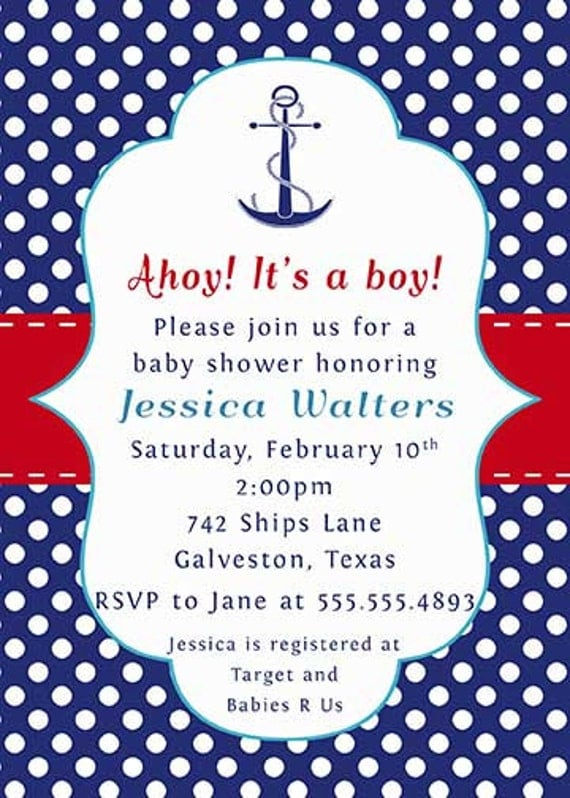 Nautical baby shower wording baby shower nautical nautical baby shower wording filmwisefo Choice Image