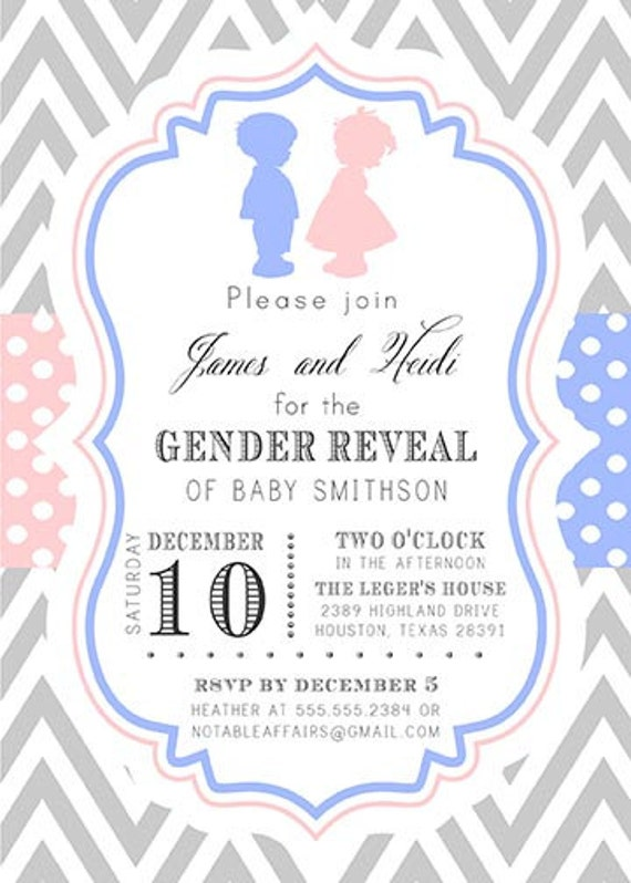 Twin Gender Reveal Invitations was great invitations sample