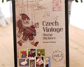 Euro Vintage Stamp Sticker Set - Diary Sticker - Deco Sticker - 16 Sheets - Puppet
