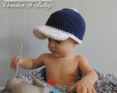 Crochet Baseball Cap - 4 Sizes - PATTERN ONLY