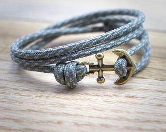 Nautical Bracelet - Paracord Bracelet - Anchor Bracelet - Mens Anchor Bracelet - Anchor - Nautical Bracelets - Summer Fashion