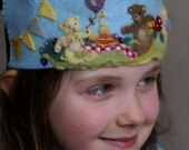 Custom Felt Birthday Crown - reserved for Fabiola