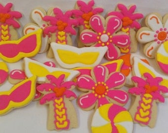 Two Dozen - Summer Themed Cookie Party Favors