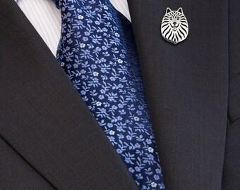German Spitz brooch - sterling silver.
