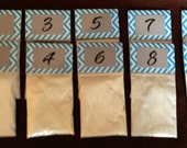SALE 10% OFF .. Chevron Baby Shower Game .. Guess the Powder