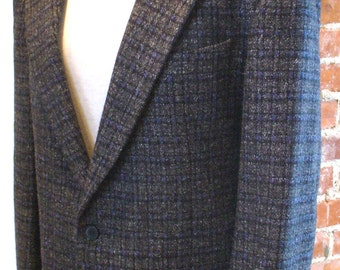 Grey Checkard Sports Coat Made in Italy