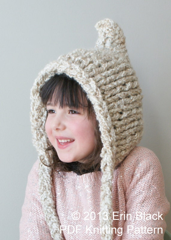 Knitting Pixie Hat Free Pattern : DIY Knitting PATTERN Chunky Pixie Hat in Toddler Child and
