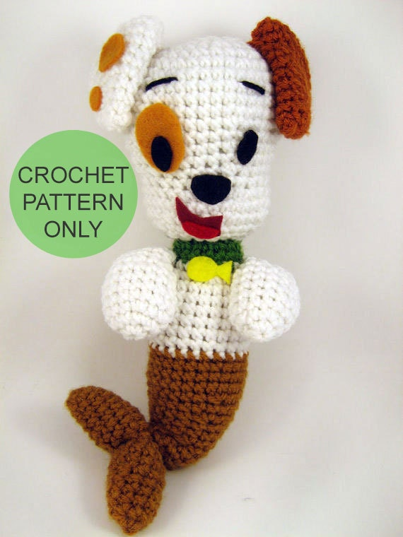 PATTERN ONLY - Bubble Puppy inspired crocheted plush toy