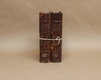 Vintage Collection of Books- Harper's Magazine from 1871-1872- Rustic Home Decor