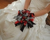 Made to Order Rockabilly Ribbon Bouquet  'Throw Bowquet'