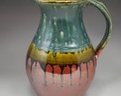 Large Pitcher: Ash Trail and Rust Red
