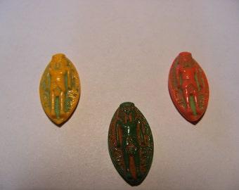 Egyptian revival glass stones