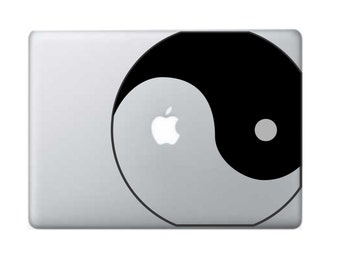 Yin-Yang Macbook Decal - Macbook Stickers - Laptop Decals - Laptop Stickers - Macbook Air Stickers - Macbook Pro Stickers