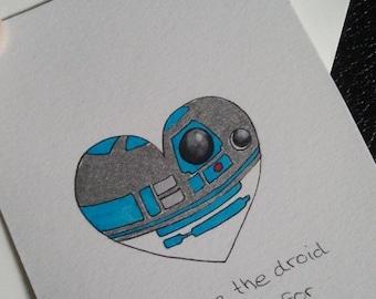Star Wars Valentines Love Card