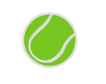 Tennis ball APPLIQUE. INSTANT DOWNLOAD Machine Embroidery Design Digitized File 4x4 5x7 6x10