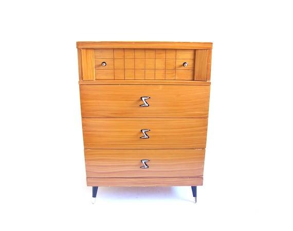 Vintage Highboy Dresser Chest Of Drawers Tallboy Bedroom