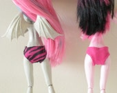 3 Pairs of Underwear for Monster Dolls- Full Coverage Briefs