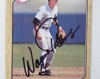 Wayne Tolleson Autographed Baseball Card, New York Yankees, 1987 Vintage Topps 224