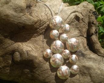 Handmade Bubbles Mokume Gane Pendant