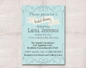 Ribbons and Pearls Bridal Shower Custom Printable Invitation 5x7
