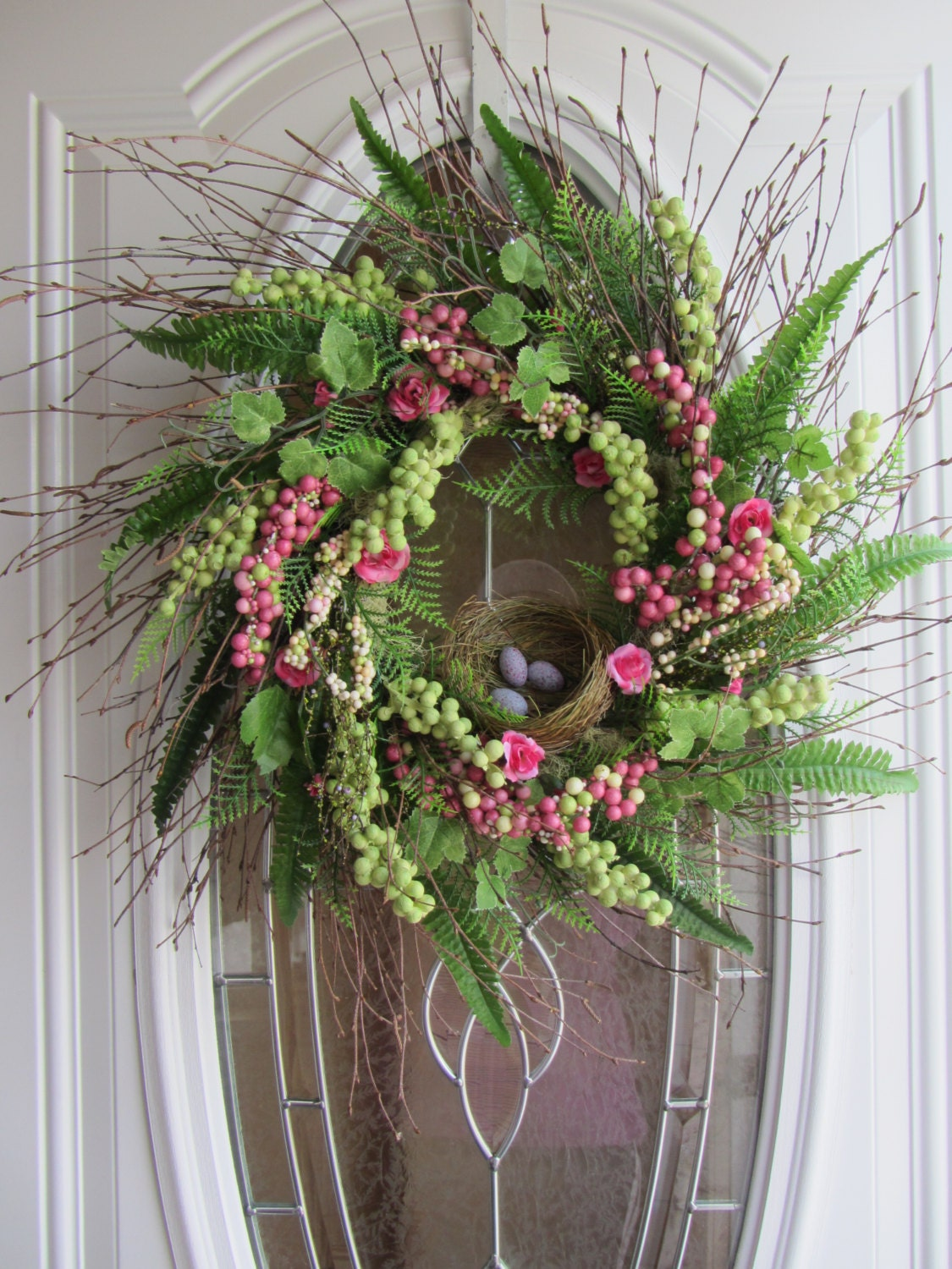 Items Similar To Spring Wreath Easter Wreath Front