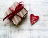 Red heart magnet love message Valentines day decor, Valentine gift