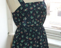 Baylis & Knight Blue Floral POSEY Flower Mini Short SUN Dress Cute Retro Vintage Pinafore Festival Tea Dress