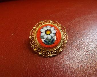Sweet Micro Mosaic Flower Pin