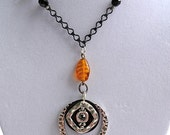 10% off on this item - This is the bees knees for real Sweet and beeeeeutiful reclaimed repurposed assemblage necklace