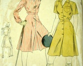 1940s Vogue Culotte Dress Pattern