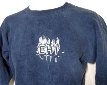 "Vintage CHI ""The Great Chicago Fire"" Anniversary Sweatshirt Sz.M 1970's"