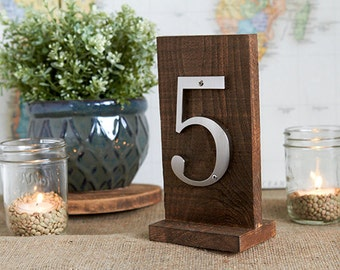 1-20 Walnut Stain Table Numbers