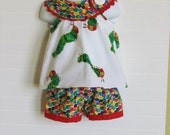 Very Hungry Caterpillar top. Girl's Blondie top in sizes 12 - 18 months, 2/3, 4/5, and 6/7.