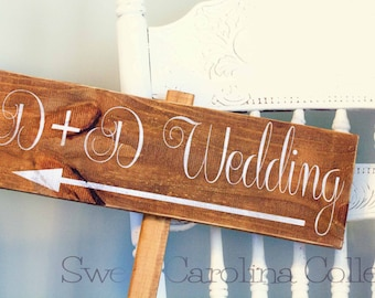 Wooden Wedding Sign, Wedding Wooden Sign - Bride and Groom Ceremony Sign WS-124