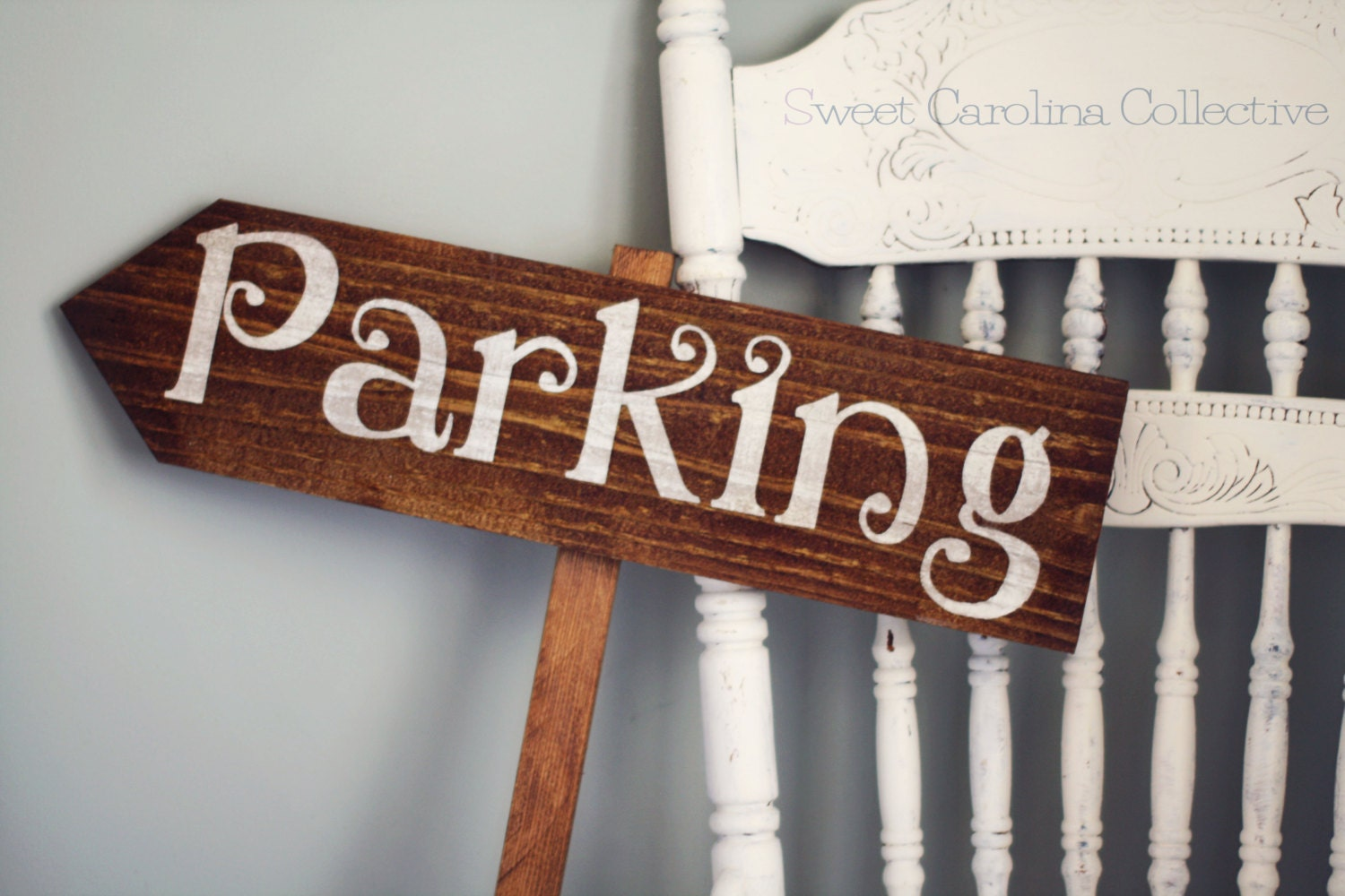 Wedding Signs Parking Wooden Wedding Directional Sign