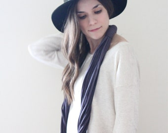 Ombre Infinity Scarf - Midnight Black