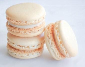 French Macaron Cookies 12 Madagascar Vanilla Macaroons Gift Splendid Sweet