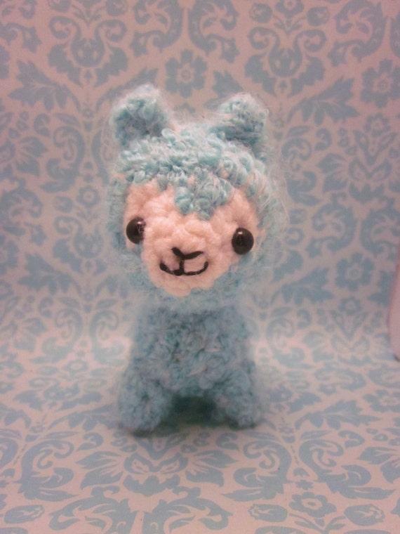 Amigurumi Alpacasso : Items similar to sale cute wee little kawaii arpakasso