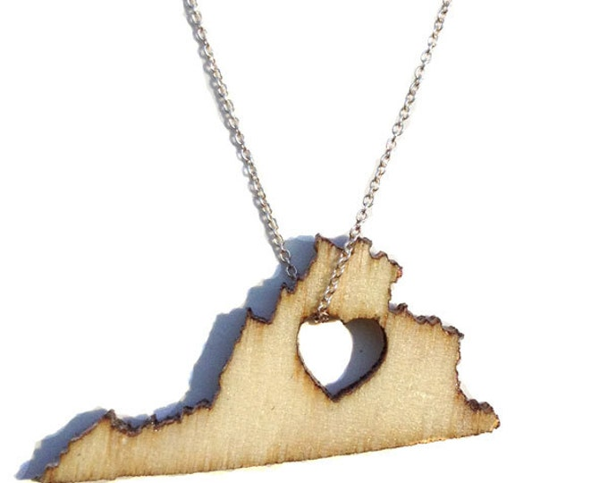 Virginia Necklace States of Love State Necklace State Jewelry