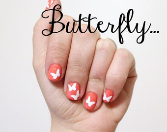 Butterfly Fingernail Stickers x20