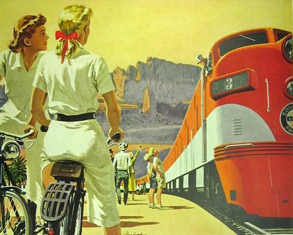 1950s Southern Pacific Railroad Ad Arizona California Vintage