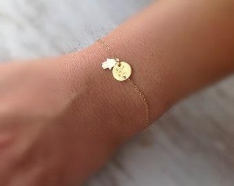 initial bracelet, hamsa, bracelet, letter bracelet,gold bracelet, friendship, hamsa, anklet -599