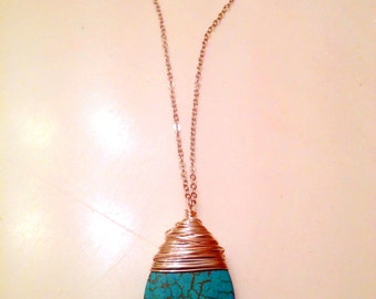 Wrapped Teardrop Necklace
