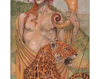 Original Tarot Art - Unused 5 of Cu ps from the Mary-el Tarot ...