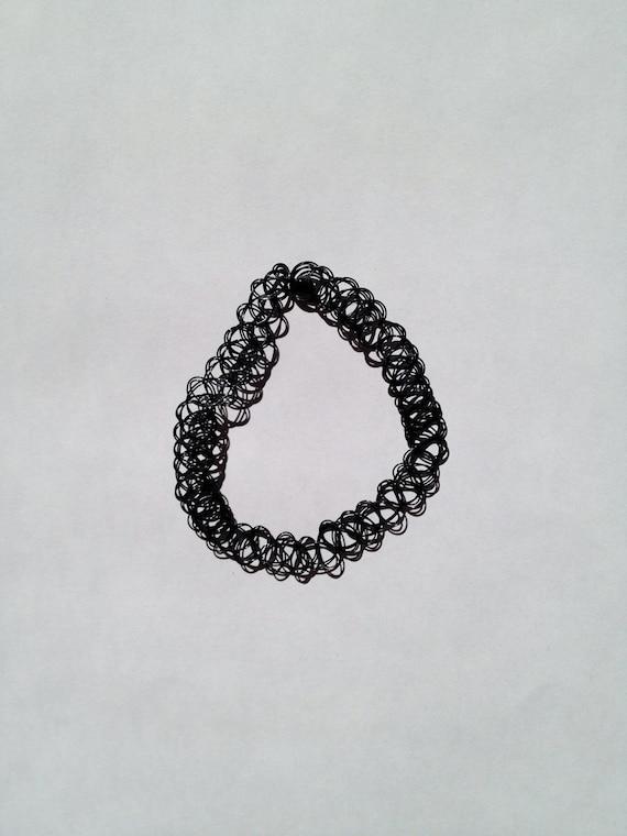 Black 90s Tattoo Choker Necklace