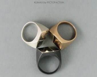 "Marvelous Ring ""Klimax"" Bronze - illusion of a cube"