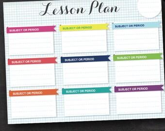 Lesson planner | Etsy