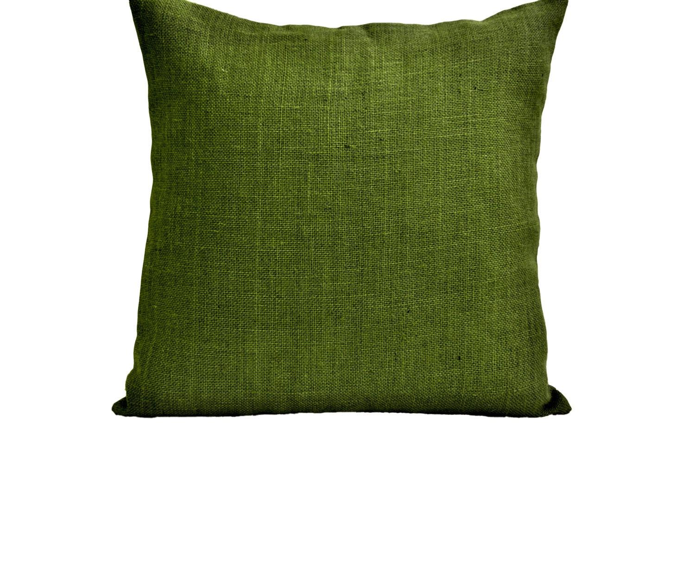 Jute Decorative Pillows : Decorative Pillow Case Green Burlap Pillow Cover Hessian
