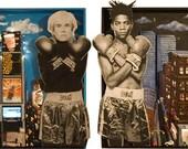 Warhol Basquiat Mixed Media Cityscape Art Print